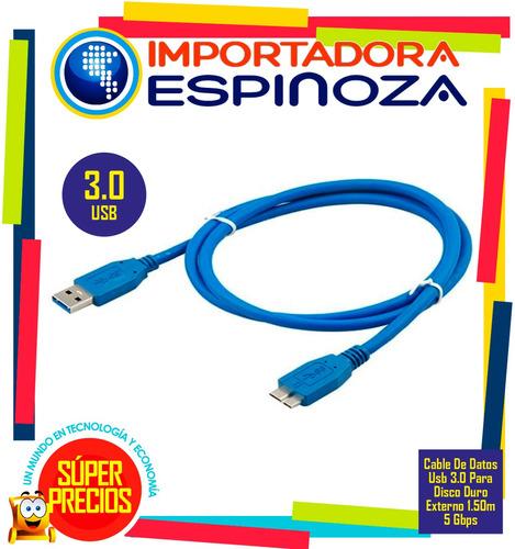 cable de datos usb 3.0 para disco duro externo 1.50m 5 gbps
