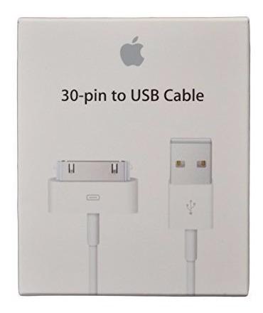 cable de datos usb iphone 4, 4s, ipod, 30 pines con garantia