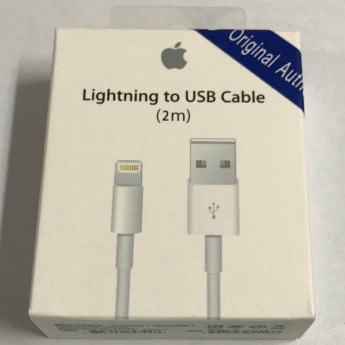 cable de datos usb iphone 5 5s 5c se 6 6s 7 8 plus x 2m