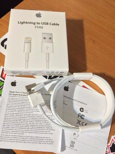 cable de datos usb iphone 5 5s 6 6s 6s plus 7 1m orig apple