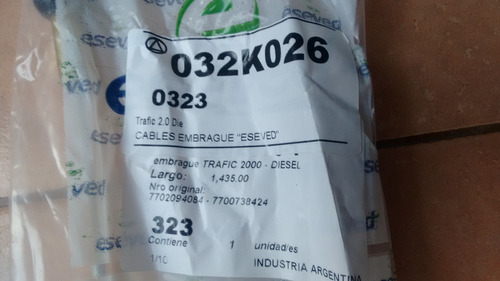 cable de embrague renault trafic 2.1 diesel