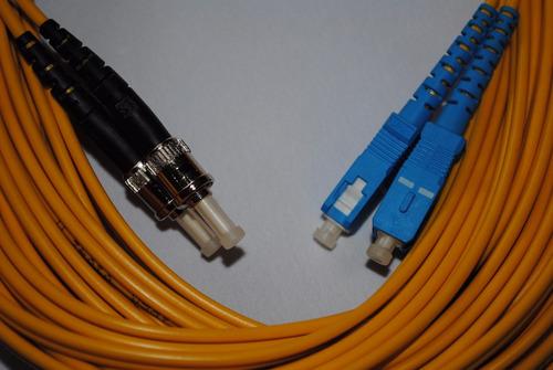 cable de fibra optica jumper sc-st monomodo duplex 11mts a12