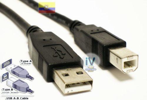 cable de impresora usb 2.0 tipo a-b de 4.5 metros resistente