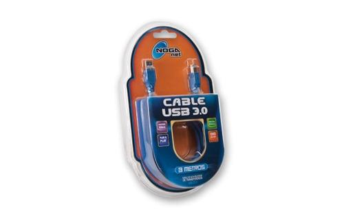 cable de impresora usb 3.0 azul am bm 2mts noga grti oficial