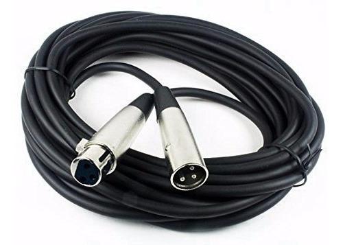 cable de micrófono canon-canon  (xlr) x 6 metros  balanceado