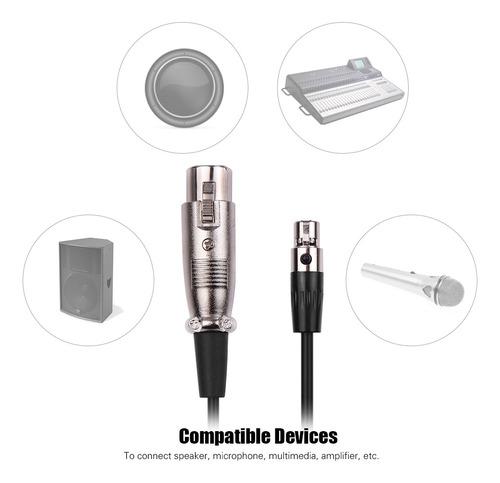 cable de micrófono mini conector xlr de 4 pines a conector x