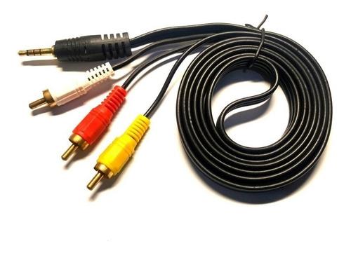 cable de plug 3,5mm a 3 rca - 1,50 metros para pc o tv box