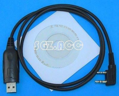 cable de programación usb + cd de banda radiodual baofeng uv