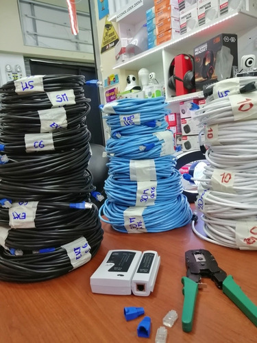 cable de red -cable de internet -terminadoa medida 10 metros