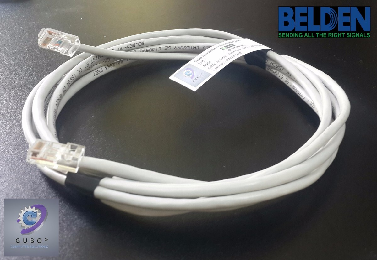 Cable de red datos patchcord rj45 20 metros for Cable ethernet 20 metros