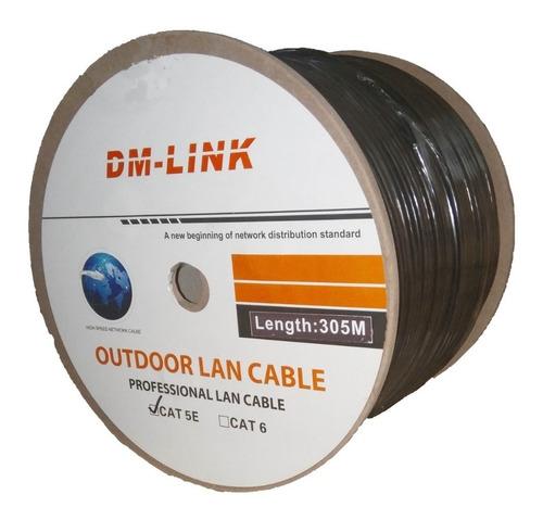 cable de red exterior utp cat 5e rollo 305 mts dm link