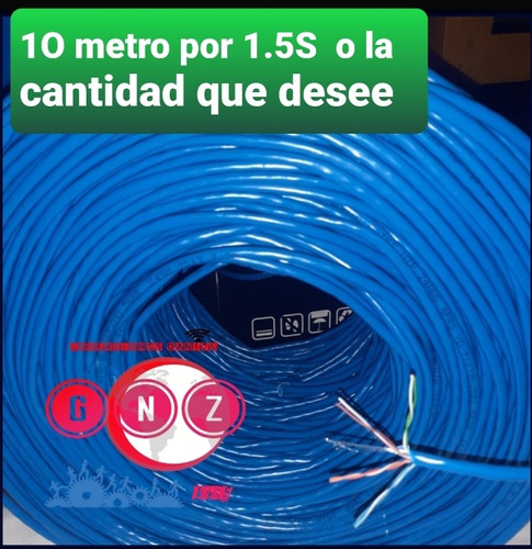 cable de red internet cat5e cc 100 metro wifi mode cctv rede