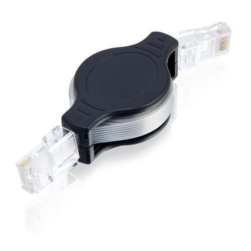 cable de red lan ethernet retráctil rj45 de 1,5m
