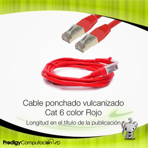 cable de red patch cord ftp cat 6 - 1.2m