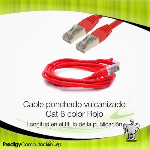 cable de red patch cord ftp cat 6 - 1.8 metros
