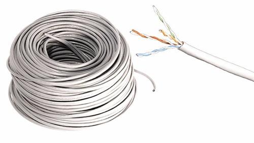 cable de red utp cat 5e color gris 100 mts