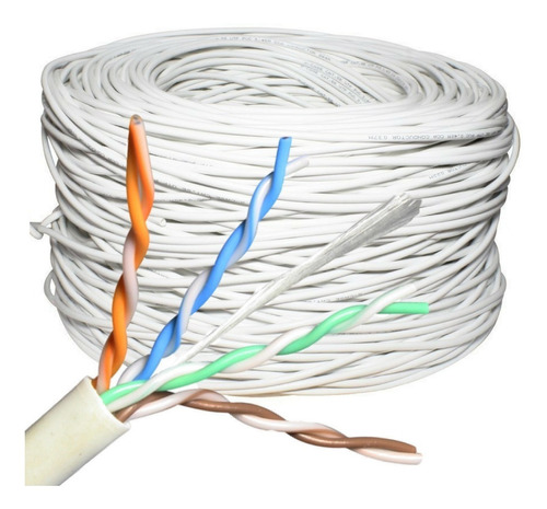 cable de red utp cat 5e interior por metro camaras cctv
