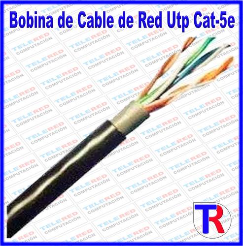 cable de red utp cat 5e para interperie outdoor 305 metros