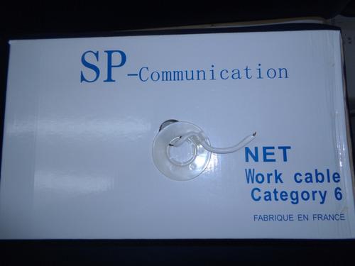 cable de red utp cat 6 categoria 6 rollo 305m +25 conectores