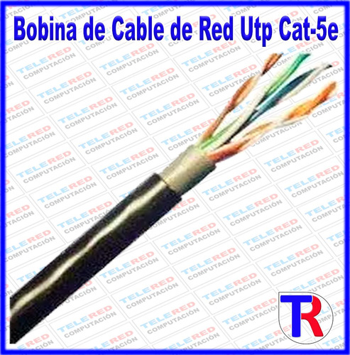 cable de red utp cat5e interperie outdoor 305mts internet