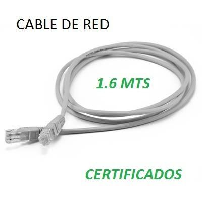 cable de red utp cat5e +rj-45 patch cord 1.65mts