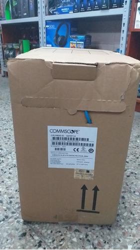 cable de red utp commscope cat 6 caja bobina 305 mts