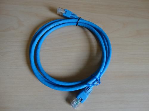 cable de red utp internet rj45 de 1 m. long. con terminales