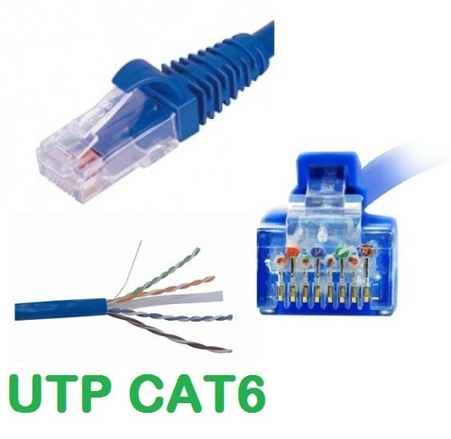 cable de red utp patch cord cat6 certificado 12.5 mts. 24awg