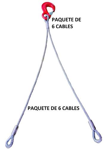 cable de seguridad para remolque dolly(6 pzs)