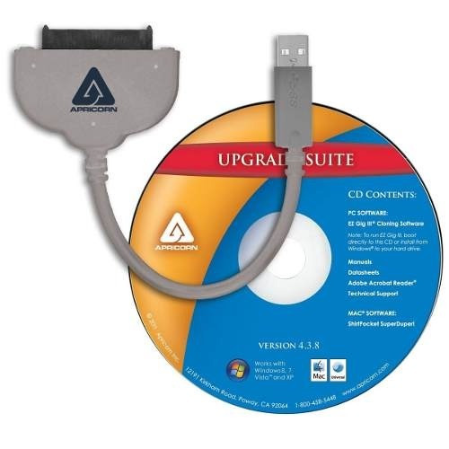 cable de transferencia de datos sata/usb marca apricorn