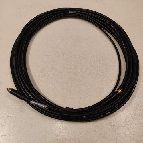 cable de video compuesto con ficha rca amphenol 15 o 20 mts
