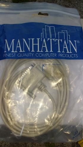 cable directo db25 macho a macho, interlink, pasar datos