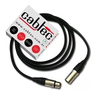 cable dmx xlr canon para iluminacion neutrik 1 metro cabtec