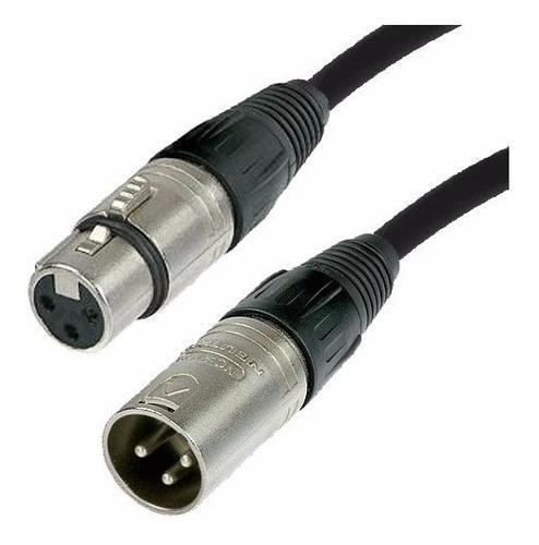 cable dmx xlr canon para iluminacion neutrik 6 metros cabtec