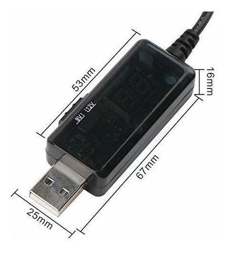 cable drok 5 v usb boost intensificar un convertidor de 9 v1