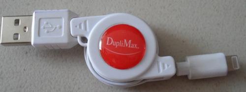 cable duplimax usb 8 pines retractil 80 cm iphone 5/6 envío
