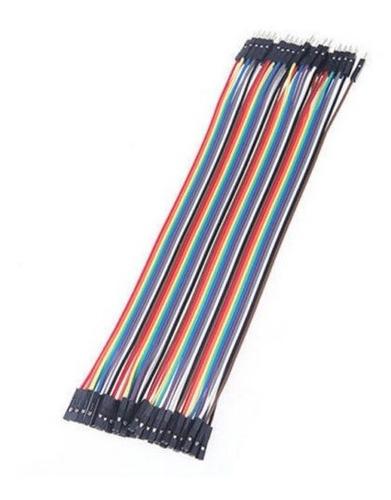 cable dupont macho-hembra 40 pines 20 cm protoboard arduino
