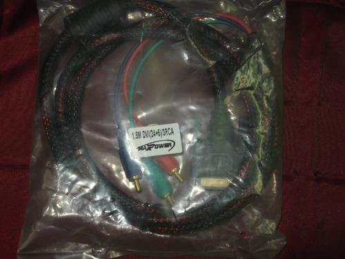 cable dvi 24+5 macho a 3 rca 1.8mts equiprogram