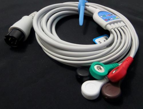 cable ecg [ 1 pieza / 5 derivadas ]
