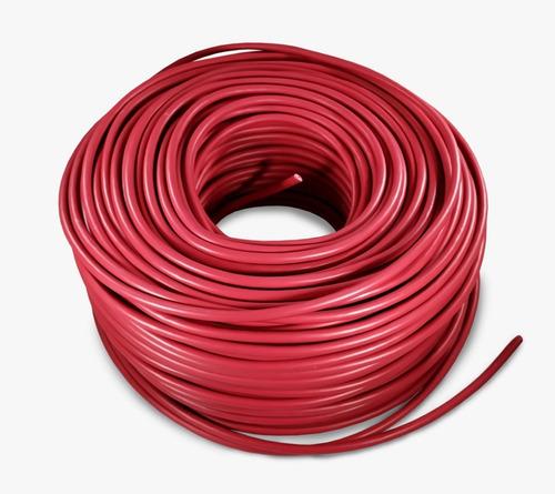 cable eléctrico calibre 12 thw alucobre 100m unipolar rojo