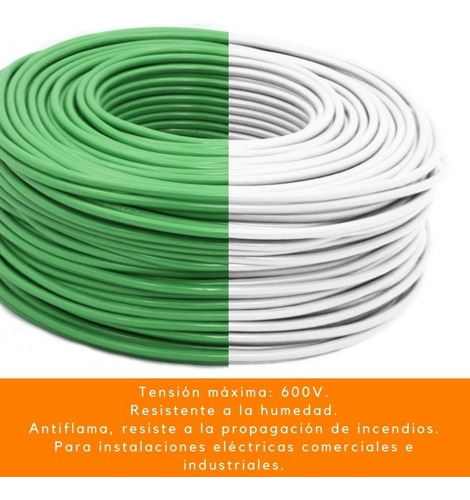cable electrico thw adir cal 10 rollo 100 mts tension 600v