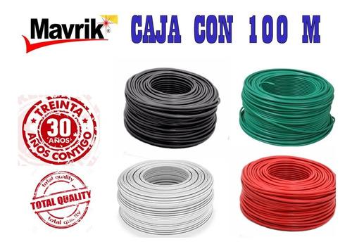 cable eléctrico thw calibre #10 rojo negro verde y blanco, hecho en méxico alta calidad mavrik 30