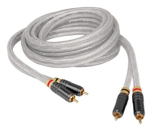 cable en cobre force3rca siliconado de rca a rca de 3 metros