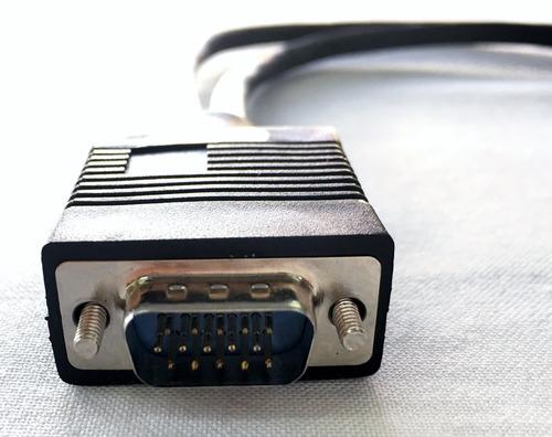 cable en y splitter pasivo vga 1 conector macho a 2 hembras