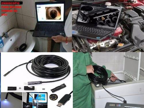 cable endoscopio usb camara 7m  inspeccion 6  led