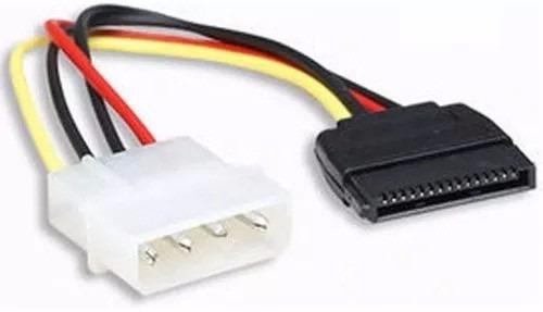 cable energia poder power adaptador molex a sata 4 pines ccc