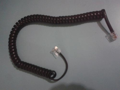 cable espiral telefonico (color beige o negro)