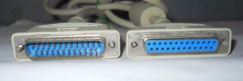 cable extension db25 macho a db25 hembra- impresora serial.