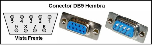 cable extension db9 serial macho hembra 5 metros