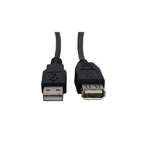 cable extension star tec usb 1,8mts (6ft.2.0) bolsa negro